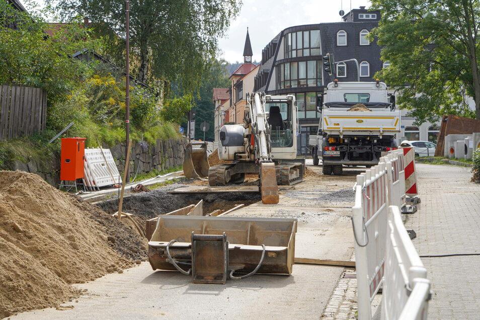 Bereits jetzt wird in Wilthen im Bereich von Dresdener, Zittauer und Bahnhofstraße gebaut. Ab 1. Oktober ist hier für zwei Monate dicht.