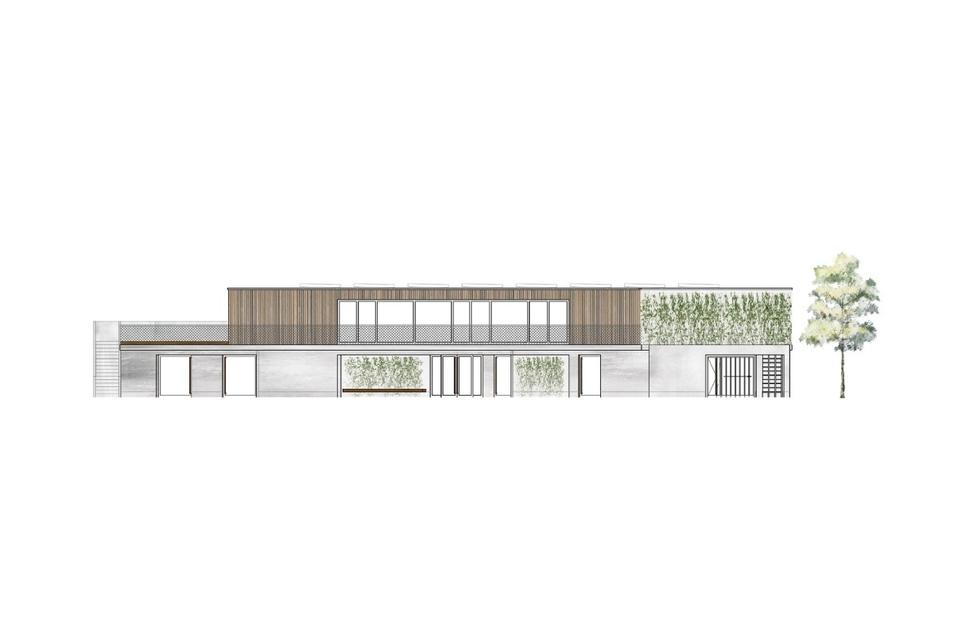 So soll das neue Funktionsgebäude im Trainingszentrum der Dresden Monarchs an der Bärnsdorfer Straße aussehen.