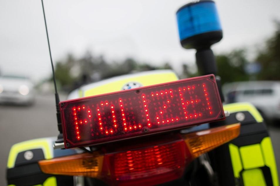 Die Polizei spürte die Diebe an der Autobahn bei Kodersdorf auf.