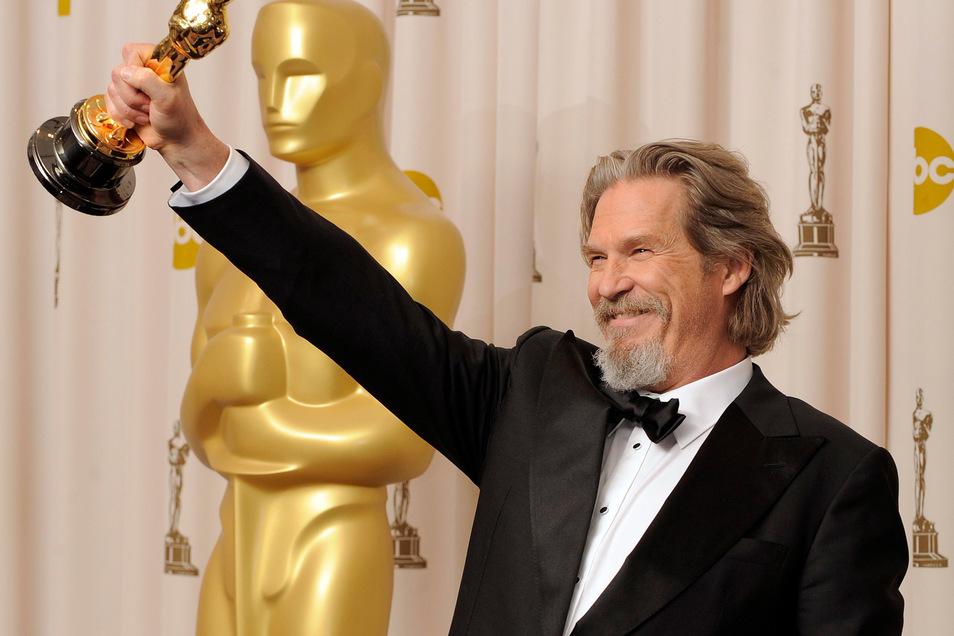 """Für seinen Auftritt als abgehalfterter, saufender Country-Sänger in dem Drama """"Crazy Heart"""" erhielt Bridges 2010 den ersehnten Oscar."""