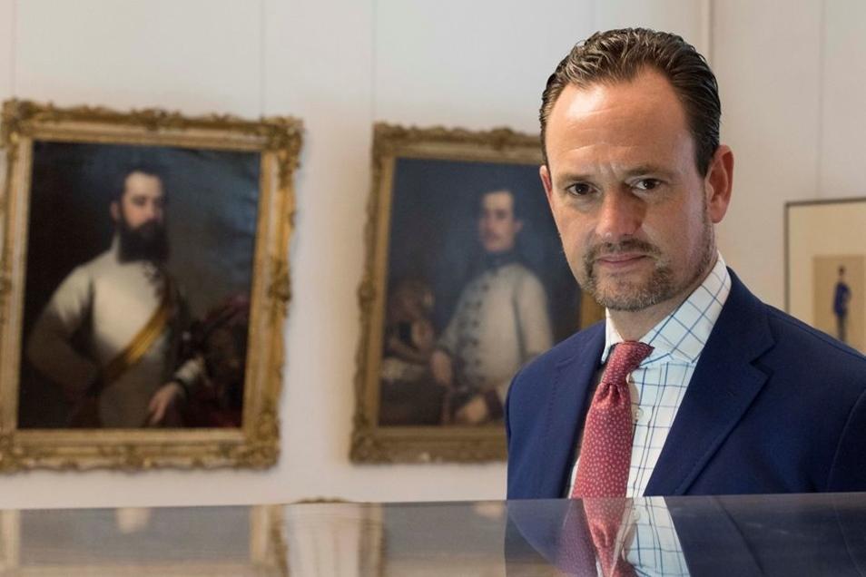Zufrieden: Alexander Graf von Schönburg, Chef des Adelshauses