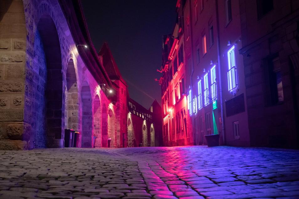 Alles dicht: Das Rotlichtviertel rund um das Nürnberger Frauentor im März 2020.