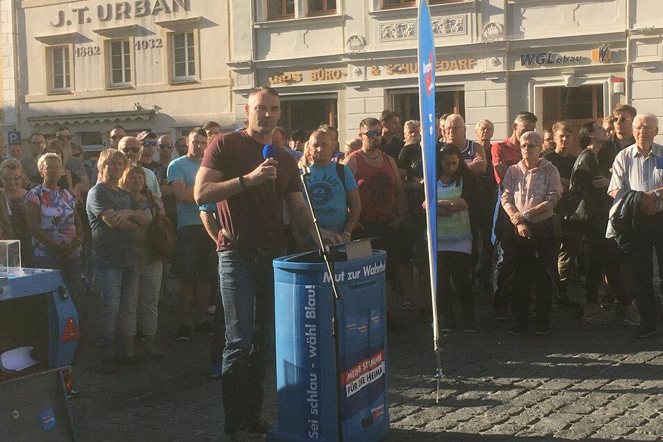 Görlitz' AfD-Chef Sebastian Wippel.