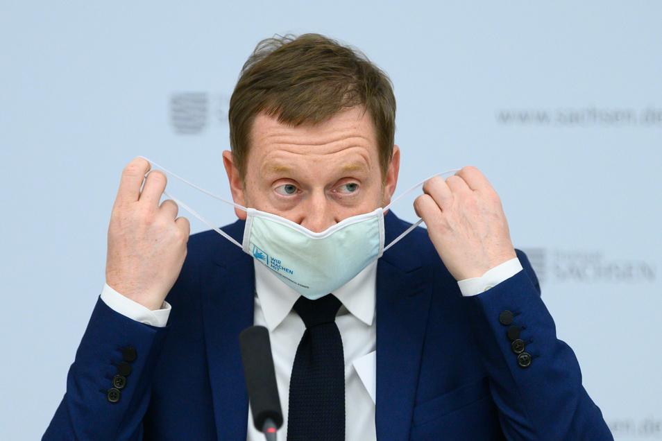 Michael Kretschmer (CDU), Ministerpräsident von Sachsen, erhofft sich bei der Video-Konferenz am Mittwoch ein klares Signal vom Bund , was die Kapazitäten in Krankenhäusern angeht.