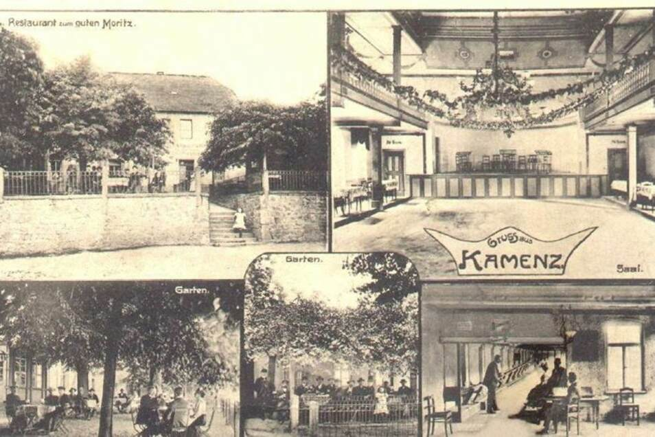 Diese historische Postkarte zeigt auch einmal ein bisschen Innenleben – Ballsaal und Kegelhalle.