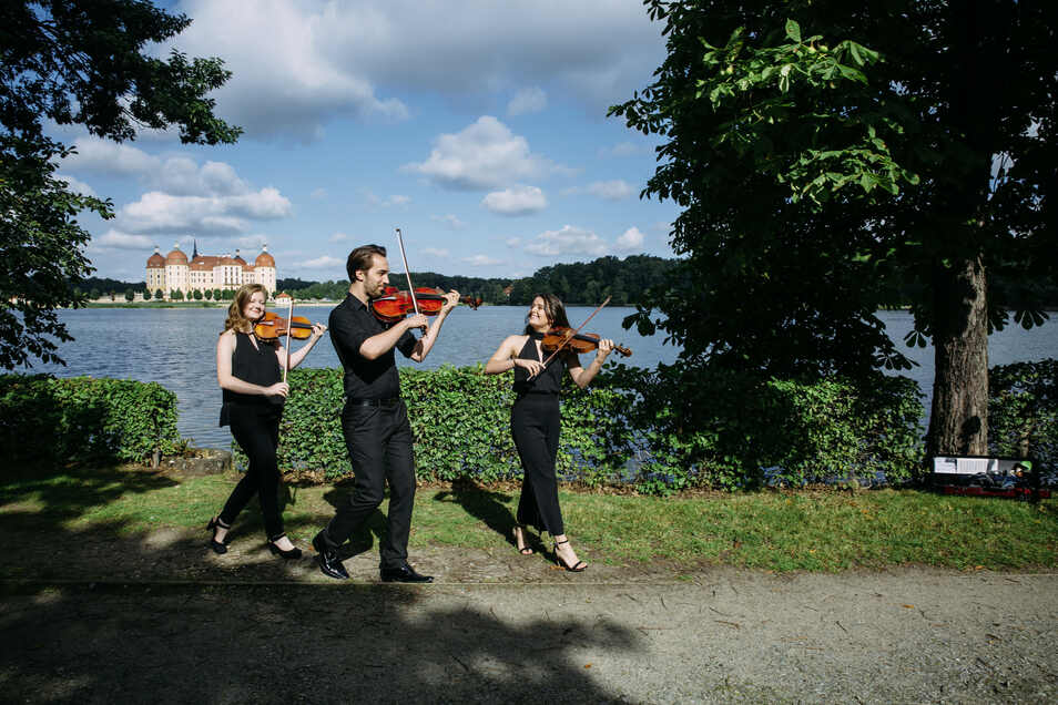 Künstler lieben das Ambiente im und am Schloss Moritzburg.