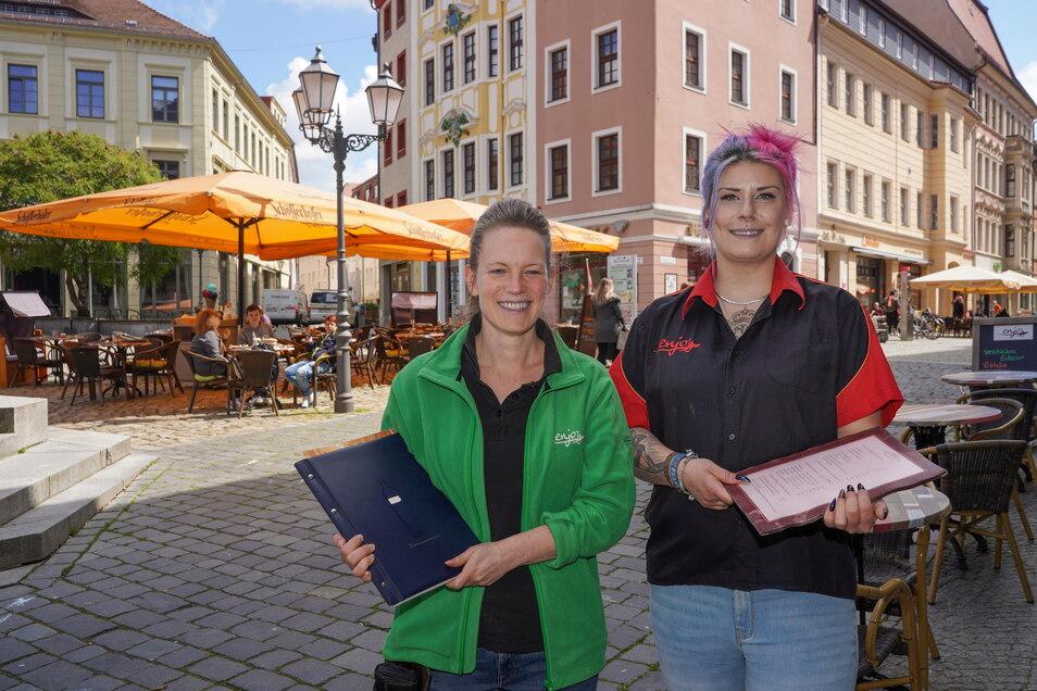 Endlich wieder mal essen gehen - seit Montag ist das zumindest draußen im Landkreis Bautzen möglich. Eine Adresse dafür ist das Enjoy am Bautzener Hauptmarkt. Weitere machen ab diesem Wochenende auf.