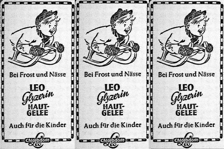Die Kosmetikindustrie nutzte den Kälte-Februar 1956 für Produktwerbung.