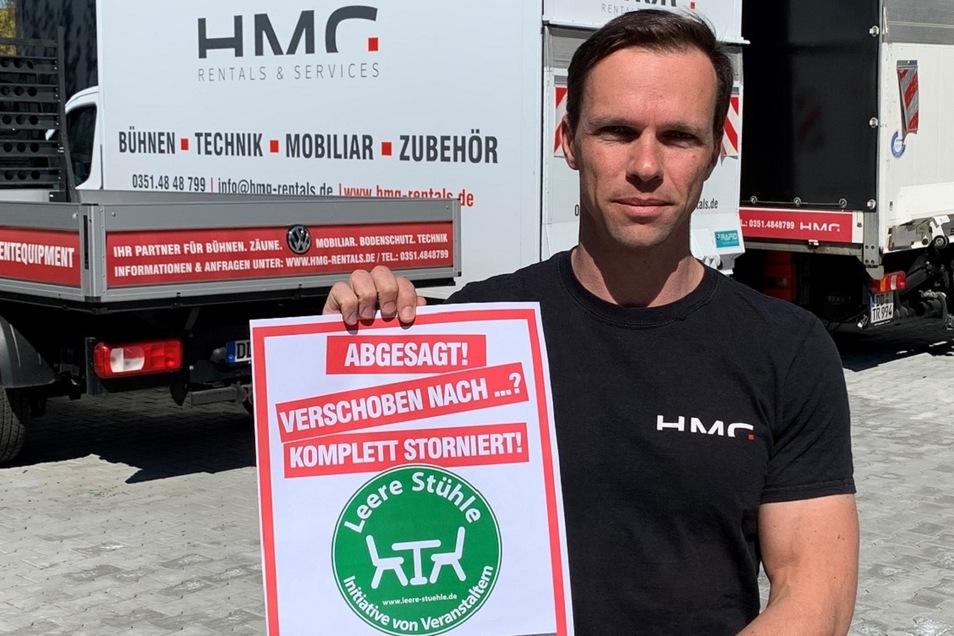 Thomas Röpke liefert vielen Veranstaltern das Equipment. Auch dieses Geschäftsfeld liegt derzeit brach.