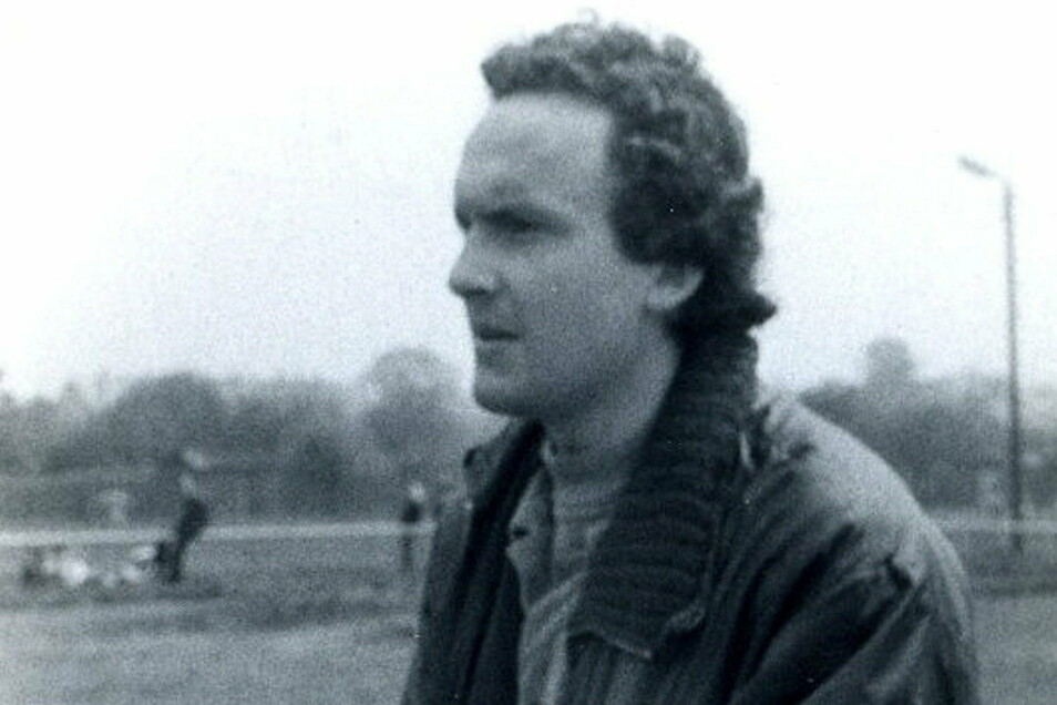 Hermann Mehner in jungen Jahren auf dem Fußballplatz.