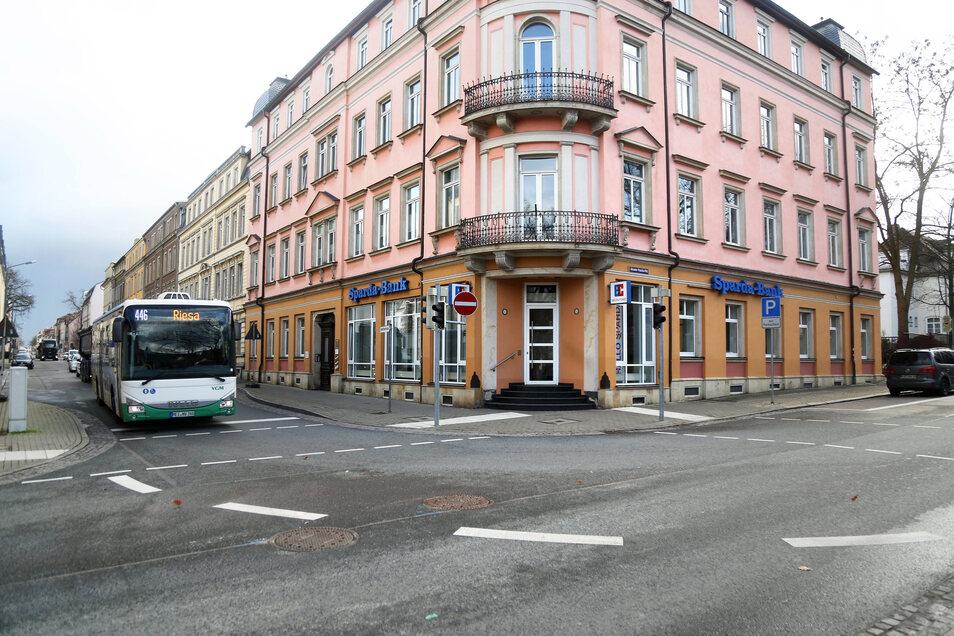 Die Filiale der Sparda-Bank in Riesa.