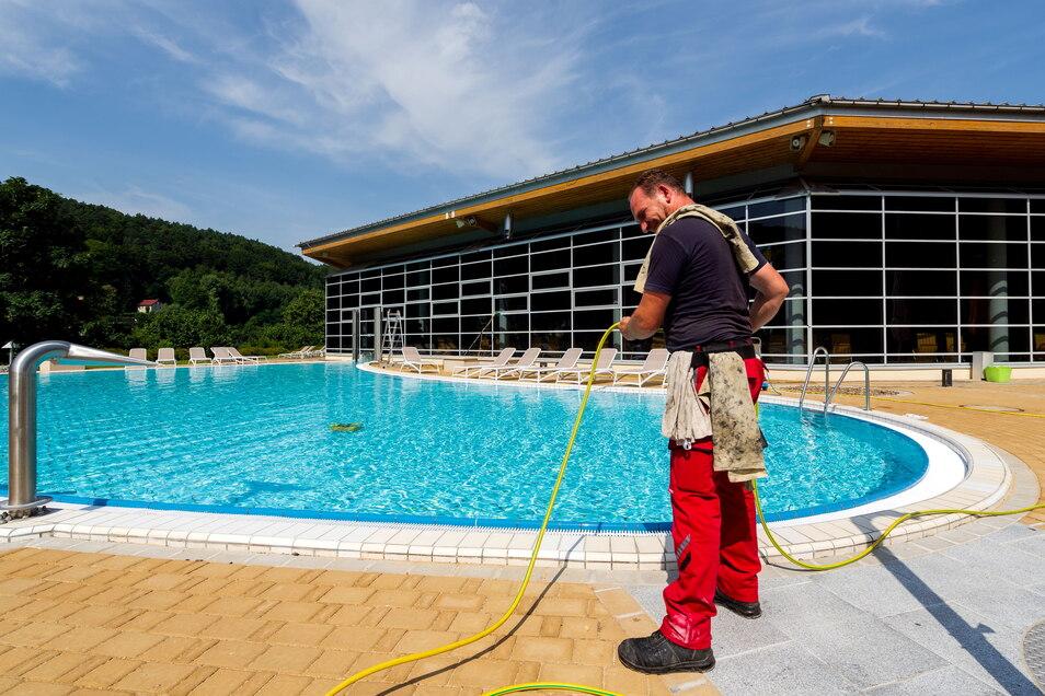 Die Anlagen am Außenbecken wurden komplett neu gestaltet.
