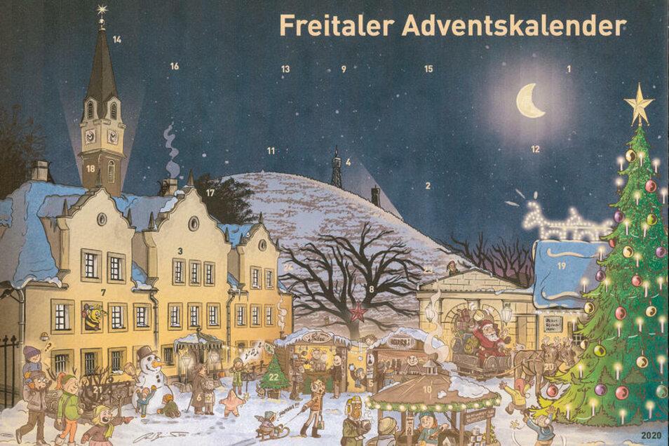 Der Freitaler Schokoladen-Adventskalender 2020