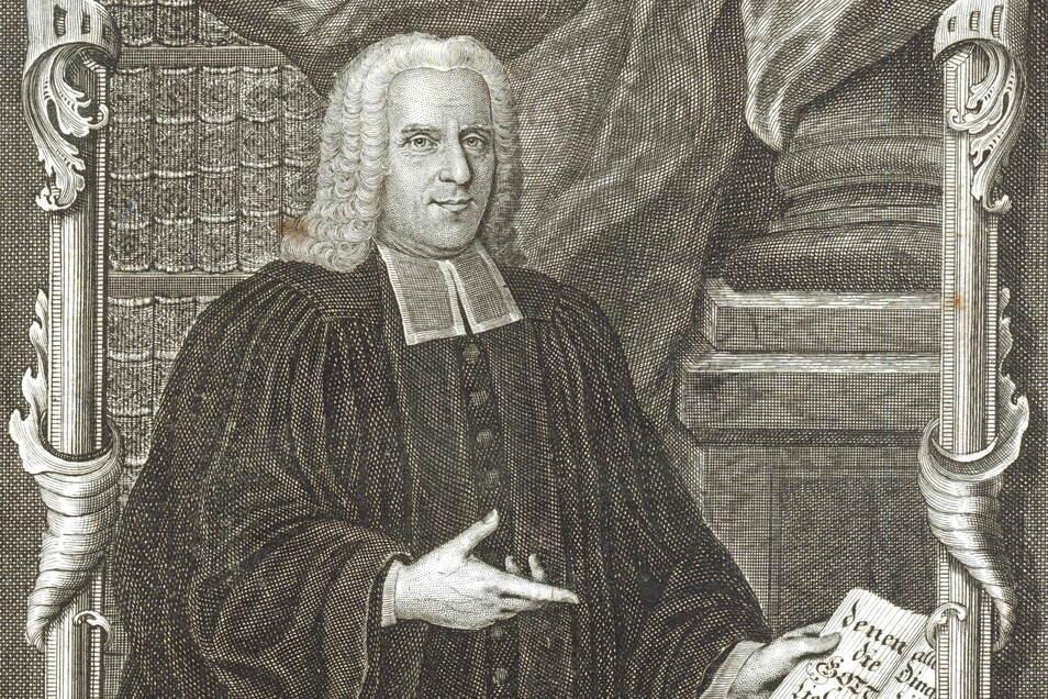 Charismatisch, selbstbewusst, gebildet, standesbewusst: So beschreibt Schröder den Markersbacher Pfarrer Walpurger. Dieser Kupferstich befindet sich im Original in Schröders Besitz.