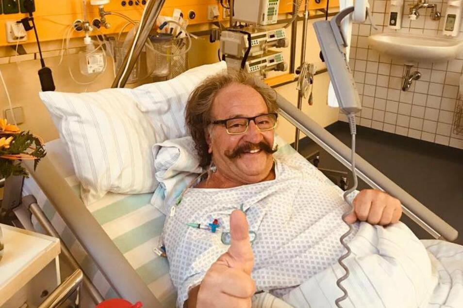 Selbst auf dem Krankenbett verlor Bellmann im vergangenen Jahr nicht sein Lächeln.
