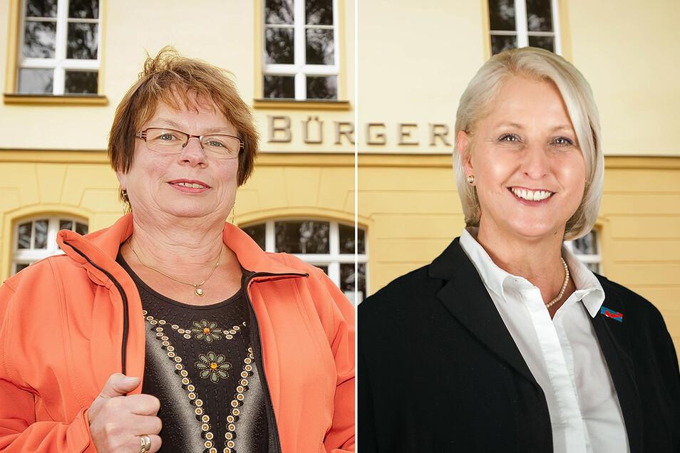 Kandidieren für die Bürgermeisterwahl in Ohorn: die parteilose Amtsinhaberin Sonja Kunze (l.) und Heike Lotze von der AfD.
