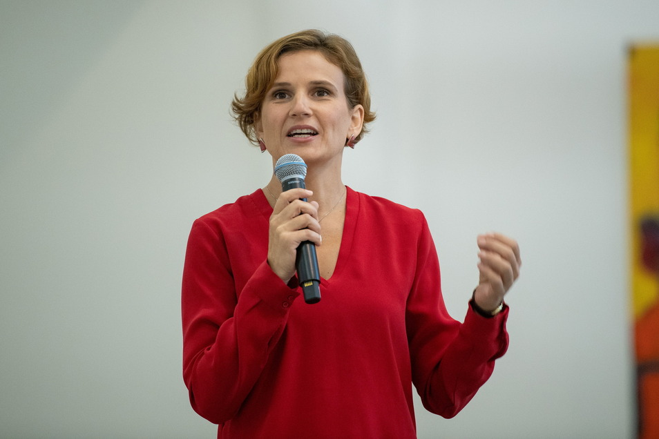 Katja Kipping (43) kandidiert im Wahlkreis Dresden I.
