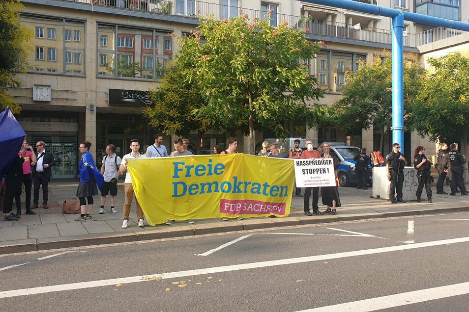 Der Pegida-Gegenprotest fand in der vergangenen Woche mit FDP und CDU statt.