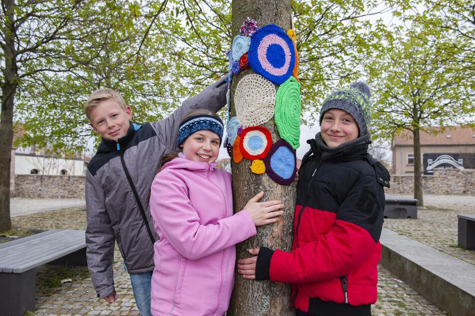Beim Stadtkunstfest im Vorjahr machten auch diese Schüler vom Großenhainer Gymnasium mit.