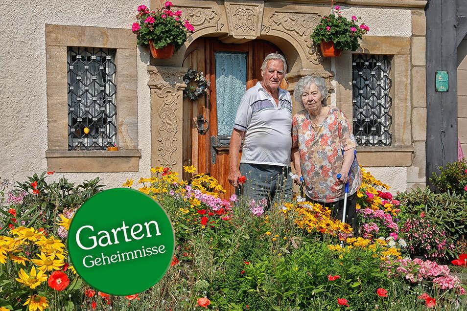 Charlotte und Eberhard Hörhold haben sich in Waltersdorf im Zittauer Gebirge ihr blühendes Paradies geschaffen - und pflegen es mit großer Liebe und Hingabe.