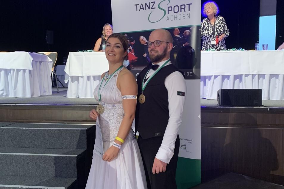 Juliane Wittig und Ronny Jeschke in Limbach-Oberfrohna. Anfang September fand hier die Landesmeisterschaft statt.