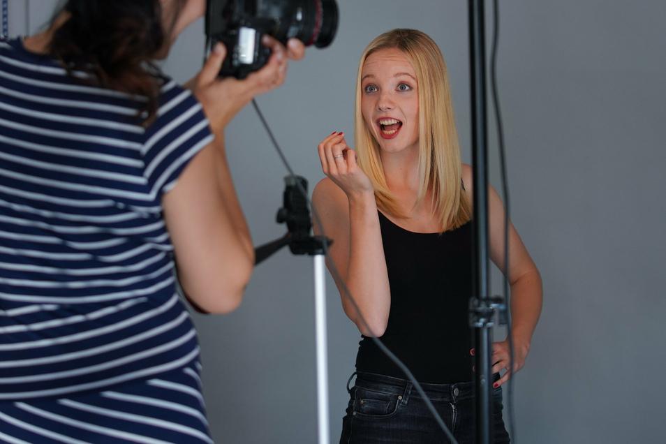 Für das Fotoshooting des neuen DSC-Kalenders waren auch von Jennifer Janiska Emotionen gefragt.