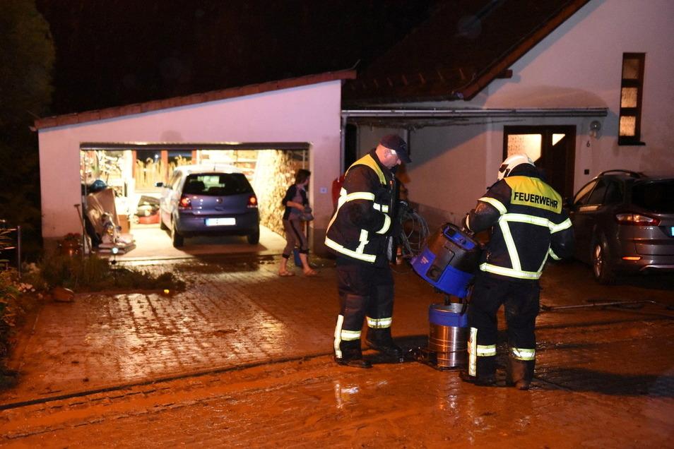 In Steina wurde mindestens ein Grundstück überflutet.