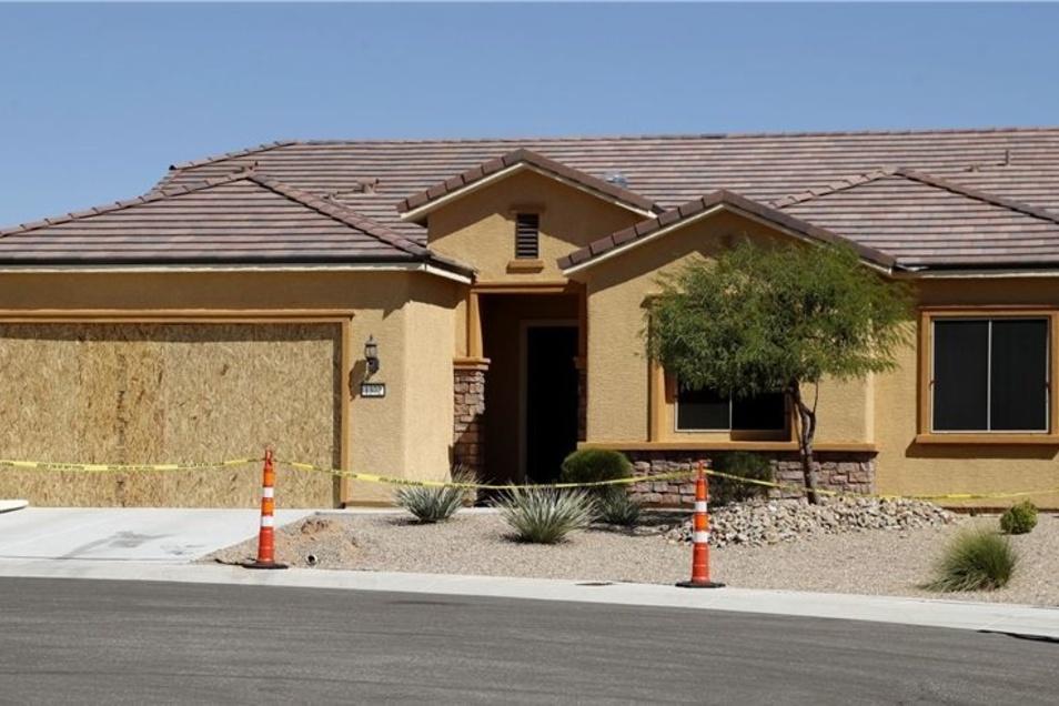 In diesem Haus in Mesquite (US-Staat Nevada) wohnte Stephen Paddock. Noch ist unklar, was den Pensionär zu seiner Bluttat in Las Vegas getrieben hatte.