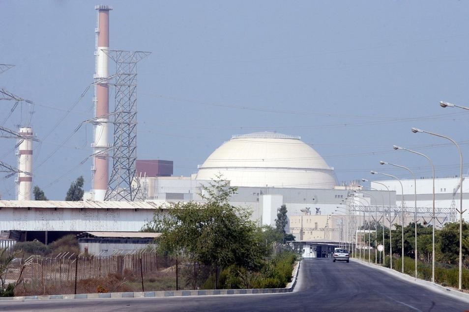 Blick auf das iranische Atomkraftwerk Buschehr.