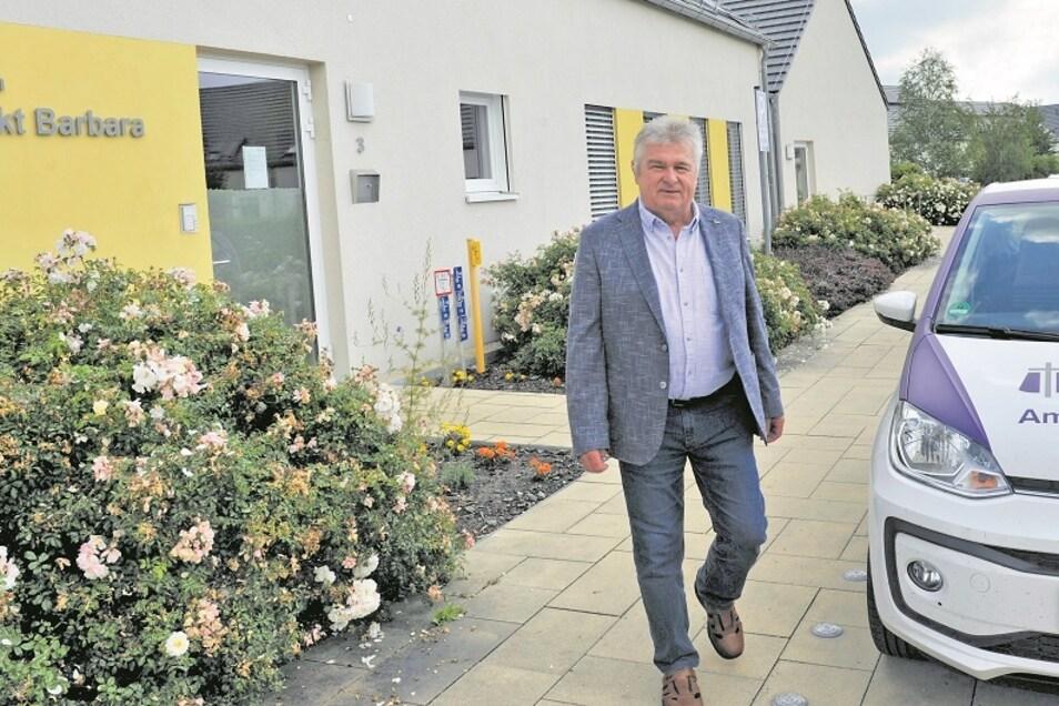 Das Soziale Zentrum mit betreutem Wohnen liegt Reinhard Bork besonders am Herzen. Mit dem Zentrum ist die Möglichkeit gegeben, dass ältere Menschen nicht wegziehen müssen, begründet der Noch-Bürgermeister.