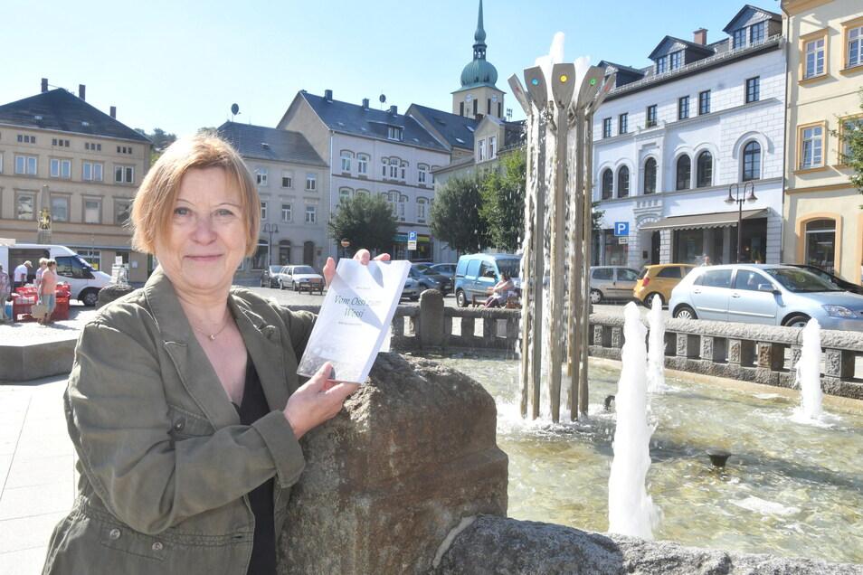 Petra Pansch in Sebnitz. Sie reiste 1984 aus der DDR aus und hat ein Buch darüber geschrieben.
