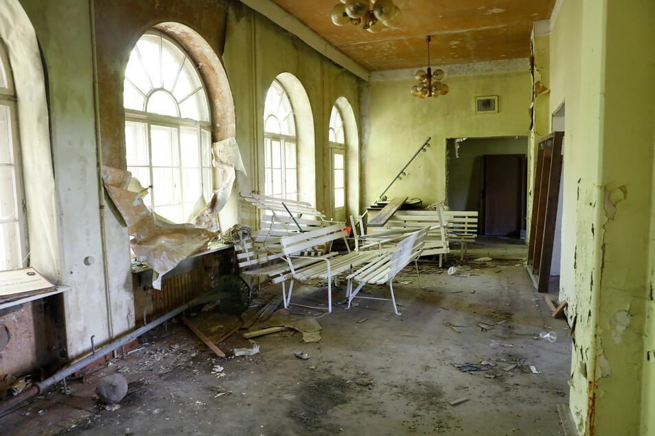 In diesem Saal wurden früher viele Feste gefeiert.