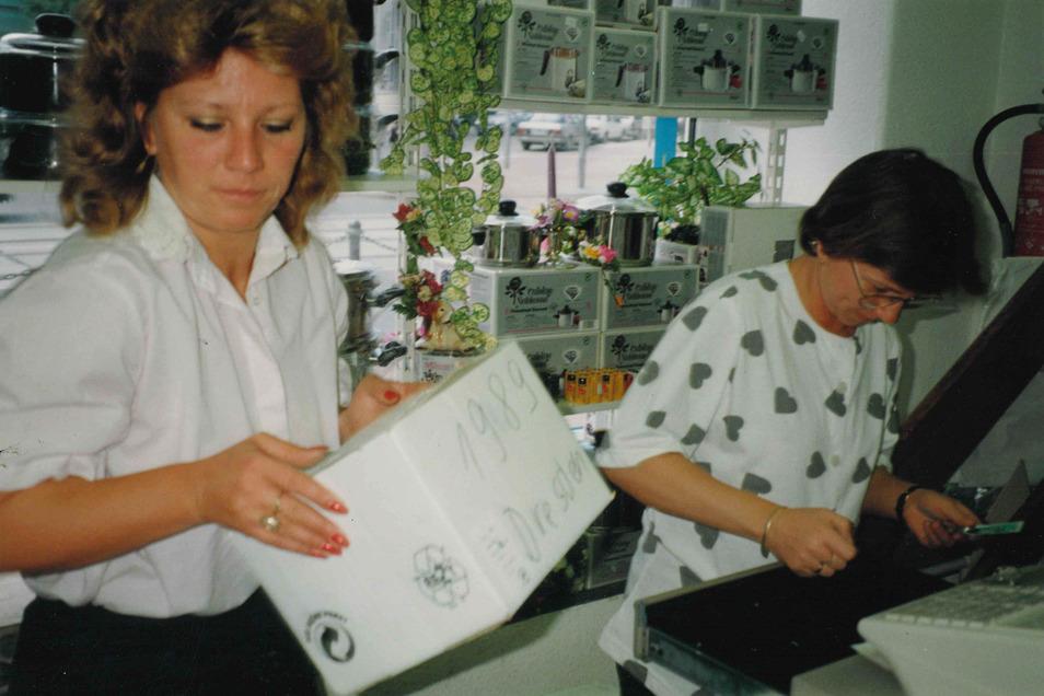 """Kurz nach der Wende arbeitete sie im """"Gut & Gern"""" an der Ecke Kesselsdorfer Straße / Malterstraße."""