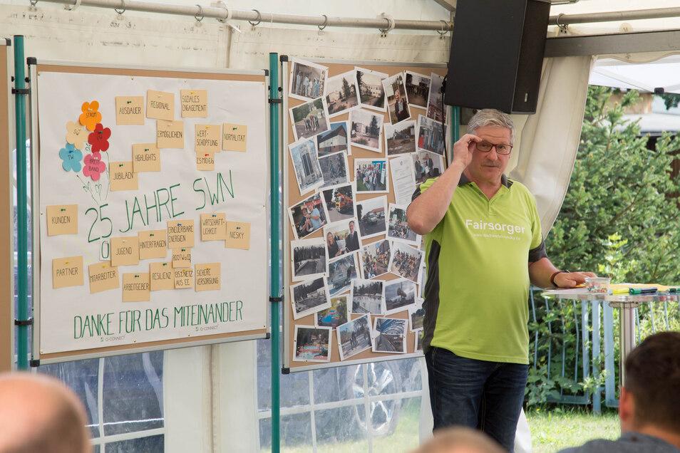 Die Stadtwerke Niesky feierten im vergangenen Jahr ihren 25. Geburtstag. Geschäftsführer Holger Ludwig informierte auf der Festveranstaltung Ende August auch über das Vorhaben Breitbandausbau in der Stadt.