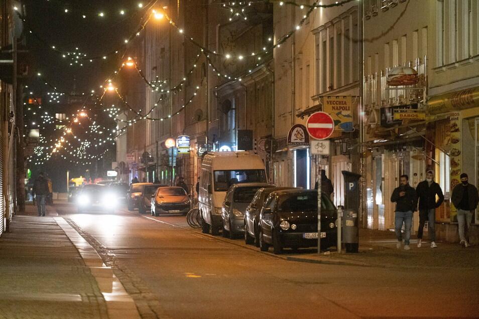 Auch im sonst so partybegeisterten Viertel Äußere Neustadt ist Silvester wenig los.