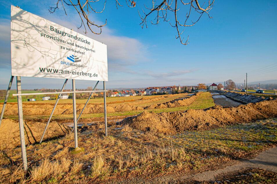 Bereits Ende vergangenen Jahres wurde am künftigen Wohngebiet am Eierberg in Pulsnitz archäologische Untersuchen vorgenommen.