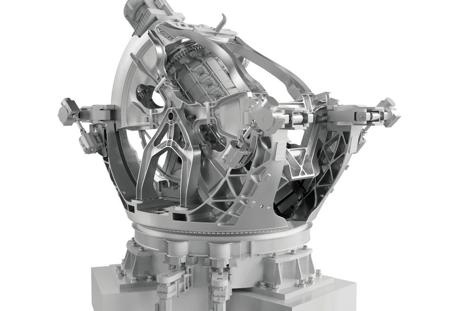 Wie in dieser dreidimensionalen Darstellung wird der große Geodynamo, der jetzt in Rossendorf aufgebaut wird, einmal aussehen. Mit dem weltweit einzigartigen Experiment wollen Physiker des Helmholtzzentrums die Entstehung des Erdmagnetfeldes simulieren. D