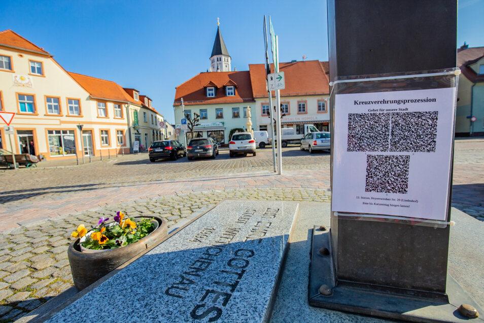 Die Kreuzweg-Prozession ist individuell durchführbar dank hinterlegter Gebete und vier verschiedenen Routen durch Wittichenau.