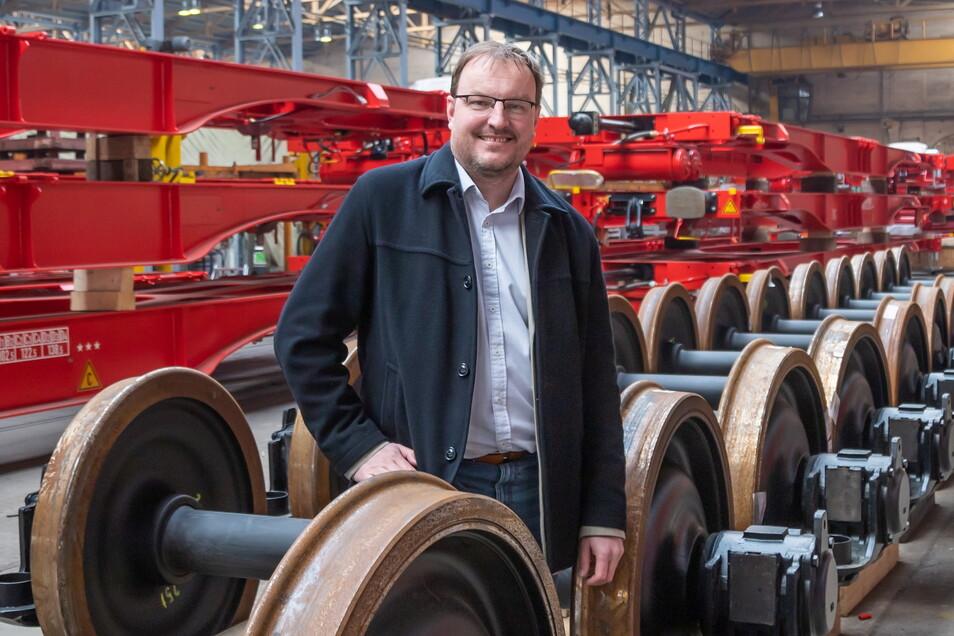 Martin Weisenpacher lenkt seit Oktober 2020 die Geschicke des Nieskyer Waggonbaus. Bis jetzt hat der Slowake das Unternehmen gut durch die Corona-Krise geführt.