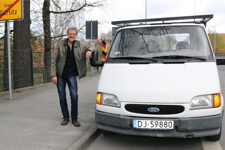Täglich am Grenzposten vorbei: Der Görlitzer Unternehmer Claus Junkes hat eine Firma in Polen und findet vieles immer noch viel zu bürokratisch.