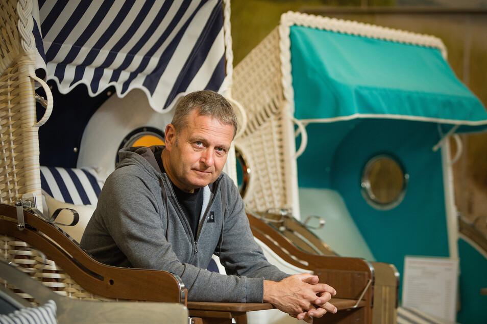 Dirk Mund stellt Strandkörbe nun öfter für den Privatgebrauch her.