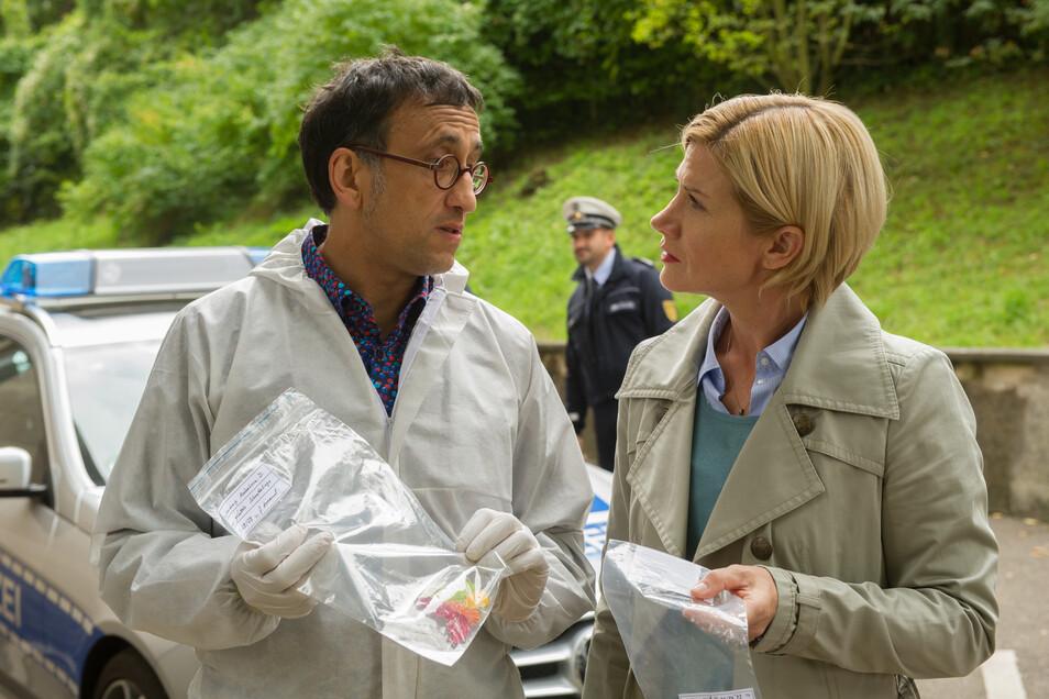 An der Seite von Martina Seiffert (Astrid M. Fünderich) geht Kriminaltechniker Jan Arnaud (Mike Zaka Sommerfeldt) für die Soko Stuttgart auf Verbrecherjagd.