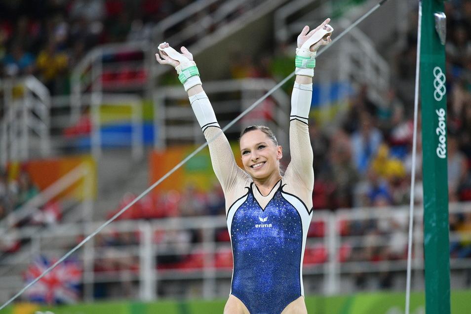Sophie Scheder gewann in Rio de Janeiro 2016 die Olympia-Bronze am Stufenbarren. Die 24-Jährige gehört auch jetzt zu den Kandidatinnen für die Spiele in Tokio. Sie kann die Vorwürfe gegen ihre Trainerin nicht bestätigen.