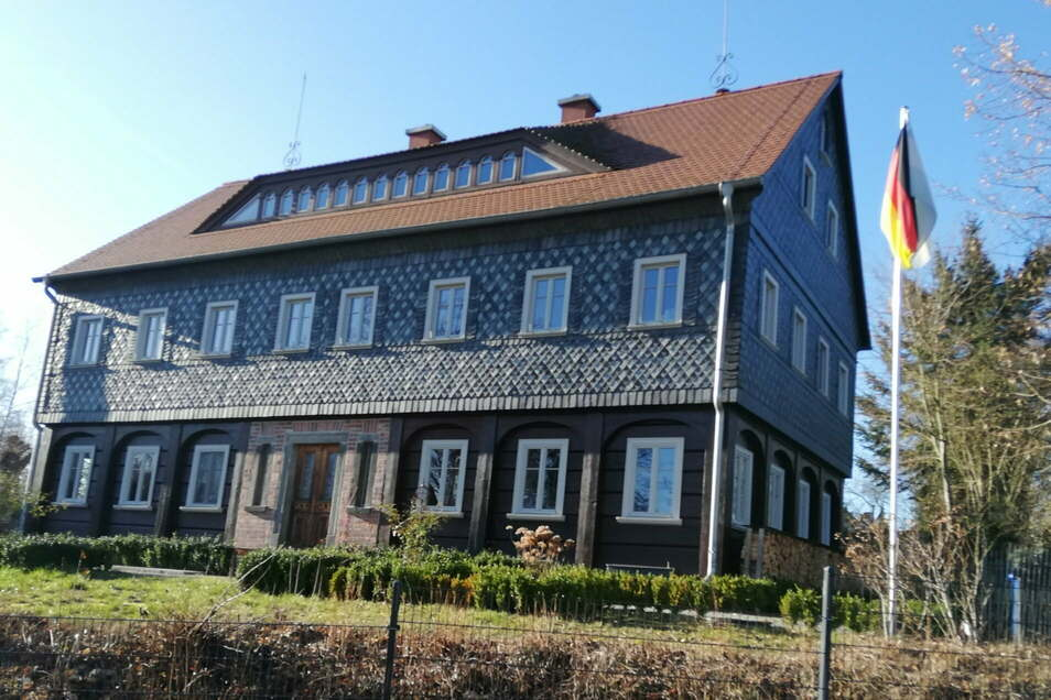 Das umgesetzte und wieder aufgebaute Umgebindehaus aus Neugersdorf steht jetzt in Buckow.