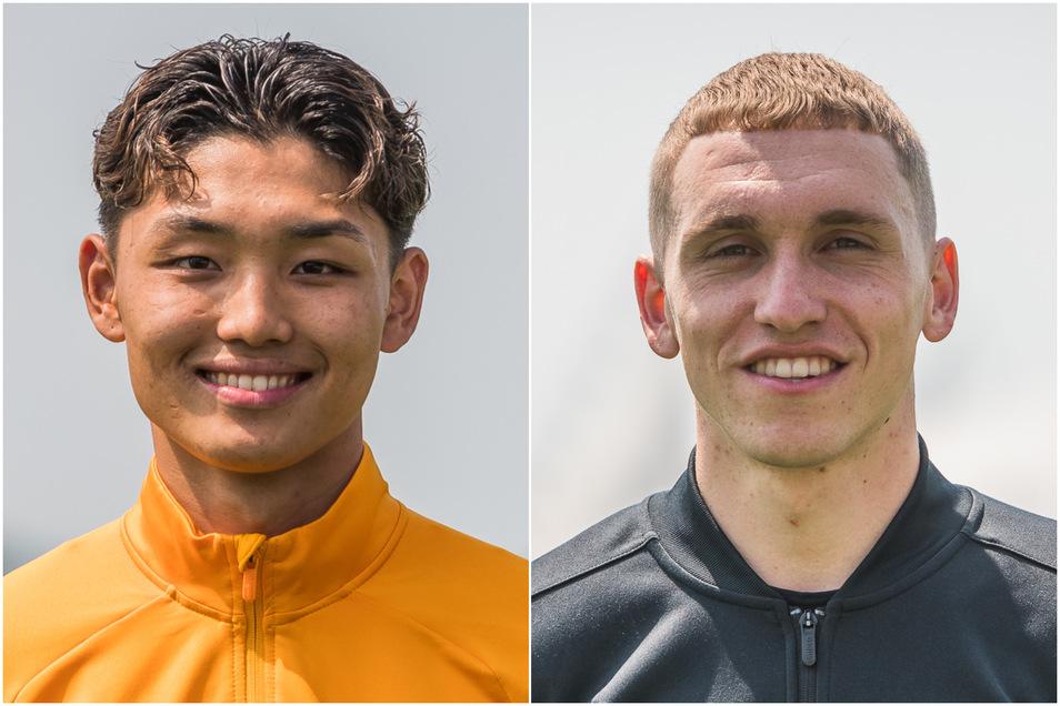 Jong-min Seo (l.) kommt von der U19 von Eintracht Frankfurt, Luca Herrmann von der zweiten Mannschaft des SC Freiburg.
