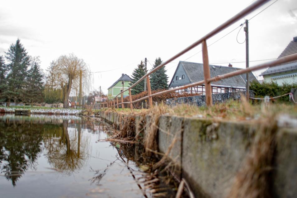 Wie gefährlich sind Löschwasserteiche? Nach einem schlimmen Unglücksfall in Hessen beschäftigt sich auch die Stadt Kamenz damit - und hat jetzt als Erstes die Situation am Mühlteich in Brauna im Blick.