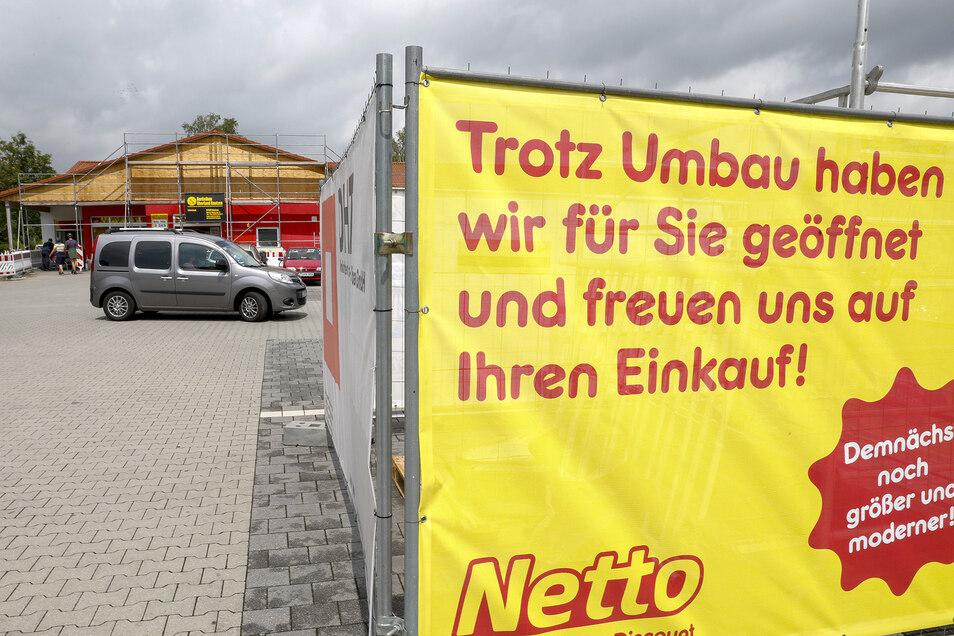 Trotz Umbaus bleibt der Markt geöffnet. Erst Mitte Oktober soll er für einige Wochen geschlossen bleiben.