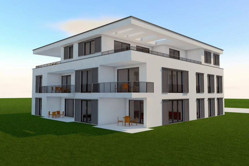 Neben zahlreichen Einfamilienhäusern entstehen dort auch vier Mehrfamilienhäuser.
