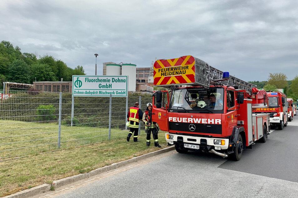 Mehrere Feuerwehren eilten zum Einsatzort nach Dohna.