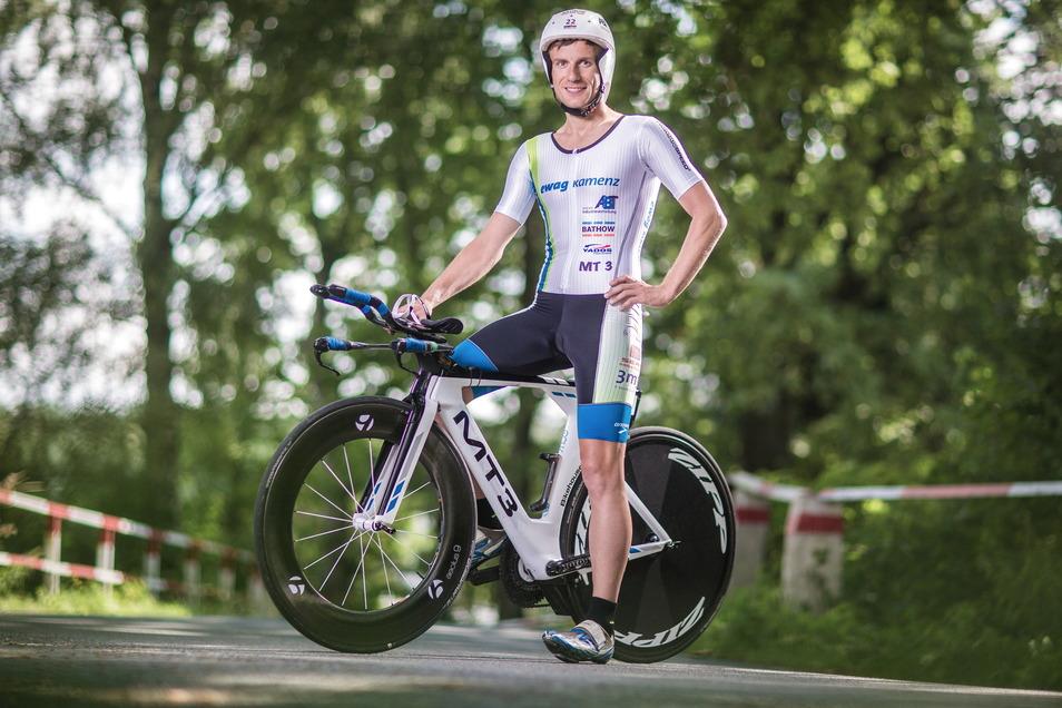 Der Kamenzer Markus Thomschke ist der bekannteste Profitriathlet der Region, der sich ein drittel Mal für den Ironman auf Hawaii qualifizieren möchte. 2022 startet der 37-Jährige auch in Dresden.